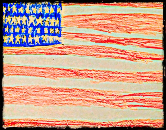 Flag cropped and bordered