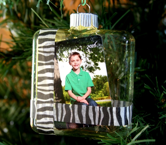 Square Glass Ornament