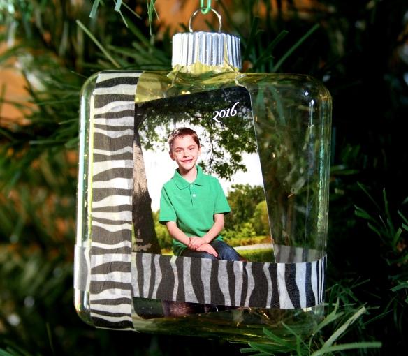 Square Glass Ornament